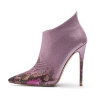 Arden Furtado summer 2019 fashion women's shoes elegant ladies boots concise pointed toe snake gradient stilettos heels zipper