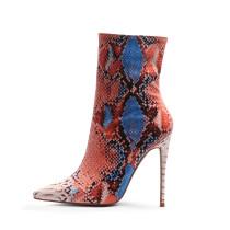 Arden Furtado spring and autumn 2019 fashion women's shoes pointed toe stilettos heels concise zipper elegant women's boots