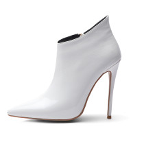 Arden Furtado fashion women's shoes in winter 2019 pointed toe stilettos heels zipper concise mature short boots office lady