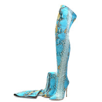 Arden Furtado fashion women's shoes pointed toe stilettos heels zipper serpentine over the knee high boots
