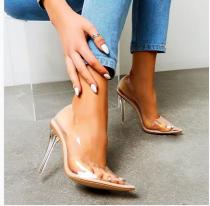 Pvc pumps fashion party shoes stilettos sexy high heels women's shoes 40