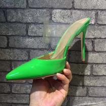 Arden Furtado summer 2019 fashion trend women's shoes red green pointed toe stilettos heels classics big size 41