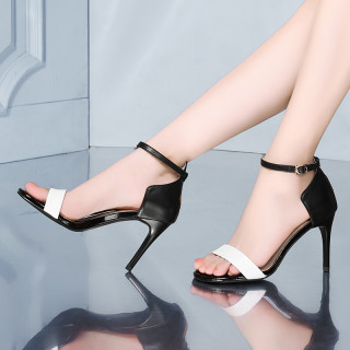 Arden Furtado summer 2019 fashion trend women's shoes narrow band sandals buckle concise stilettos heels leather small size 33