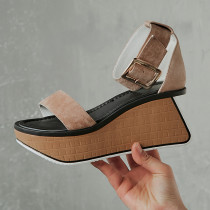 Arden Furtado summer 2019 fashion temperament women's shoes pure color sexy elegant narrow band sandals pink waterproof buckle