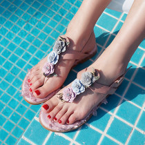 Arden Furtado summer 2019 fashion narrow band women's shoes pure color black  sexy elegant pink sweet flower buckle sandals