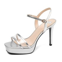 Arden Furtado summer 2019 fashion women's shoes sandals platform buckle narrow band peep toe sandals