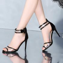 Arden Furtado summer 2019 fashion women's shoes buckle PVC sandals party shoes stilettos heels size 33