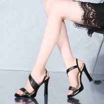 Arden Furtado summer 2019 fashion trend women's shoes stilettos heels elegant concise mature pure color sandals narrow band