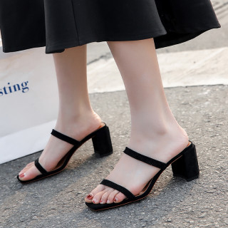 Arden Furtado summer 2019 fashion trend women's shoes  chunky heels pure color silver concise mature narrow band classics
