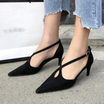 Arden Furtado summer 2019 fashion trend women's shoes pointed toe pure color red sexy stilettos heels elegant big size 40