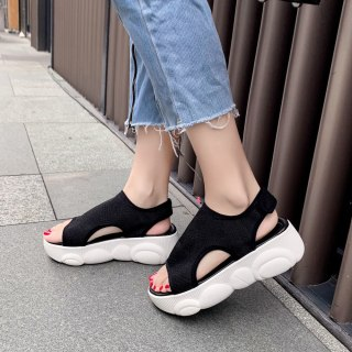 Arden Furtado summer fashion women's shoes concise casual comfortable white sandals leisure flat platform shoes