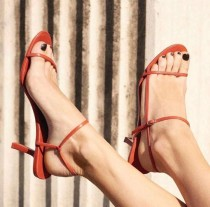 Arden Furtado summer fashion women's shoes stilettos heels sexy elegant white buckle strap red yellow sandals party shoes 43