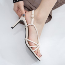 Arden Furtado summer fashion women's shoes stilettos heels sexy elegant pure color sandals narrow band party shoes