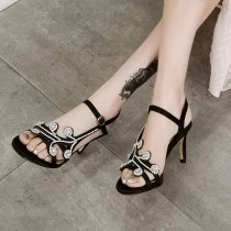 Arden Furtado summer 2019 fashion trend women's shoes stilettos heels pure color red blue concise ethnic sandals party shoes