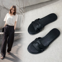 Arden Furtado summer 2019 fashion trend women's shoes concise pure color flats slippers comfortable