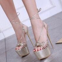 Arden Furtado summer 2019 fashion women's shoes ankle strap elegant pure color party shoes office lady sandals stilettos heels