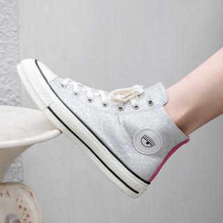 Arden Furtado summer 2019 fashion trend women's shoes cross lacing  mixed colors concise shallow flats canvas fabric shoes classics comfortable