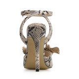 Arden Furtado summer 2019 fashion  women's shoes sexy elegant serpentine sandals buckle party shoes personality concise