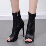 Arden Furtado summer  fashion women's shoes stilettos heels peep toe cool boots zipper peep toe stretch boots
