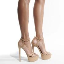 Arden Furtado Summer Fashion Women's Shoes Stilettos Heels Classics Buckle strap Elegant Narrow Band party shoes Sandals