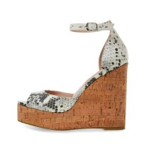 Arden Furtado Summer Fashion Women's Shoes Serpentine Personality  Sexy Elegant Sandals Buckle Peep Toe Waterproof Party Shoes