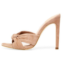 Arden Furtado Summer Fashion Trend Women's Shoes Classics Concise Stilettos Heels Butterfly-knot  Concise Slippers Pure Color