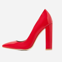 Arden Furtado Summer Fashion Trend Women's Shoes Pointed Toe Party Shoes  Chunky Heels Slip-on Pumps Pure Color Sexy Elegant