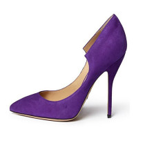 Arden Furtado Summer Party Shoes  Fashion Women's Shoes Pointed Toe Sexy Elegant Purple  Stilettos Heels Slip-on Pumps Concise