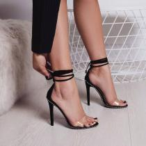Arden Furtado Summer Fashion Trend Women's Shoes Stilettos Heels Classics Ankle strap Narrow Band  Sexy Elegant Sandals