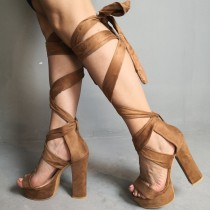 Arden Furtado summer 2019 fashion women's shoes open toe brown narrow band sandals gladiator sandals partyshoes