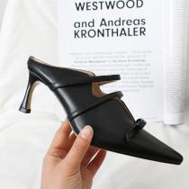Arden Furtado Summer Fashion Trend Women's Shoes Pointed Toe Pure Color Stilettos Heels   Sexy Elegant