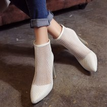 Arden Furtado Summer Fashion Trend Women's Shoes Pointed Toe Chunky Heels Pure Color Cool boots