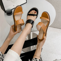 Arden Furtado Summer Fashion Trend Women's Shoes Slippers Pure Color Narrow Band Concise Classics