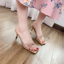 Arden Furtado Summer Fashion Trend Women's Shoes Sexy Elegant  Pure Color Slippers Mature Concise Classics Narrow Band