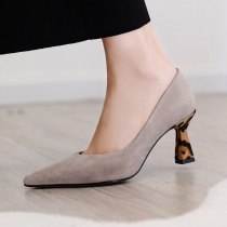 Arden Furtado Summer Fashion Women's Shoes Pointed Toe Special-shaped Heels Slip-on Pumps Concise Office Lady Shallow Mature