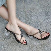 Arden Furtado Summer Fashion Trend Women's Shoes Chunky Heels Elegant Pure Color Mature Classics Concise Narrow Band