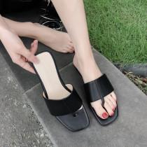 Arden Furtado Summer Fashion Trend Women's Shoes Pure Color White Classics Slippers Mature Leather Concise Comfortable Classics