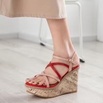 Arden Furtado Summer Fashion Trend Women's Shoes   Sexy Elegant Pure Color Buckle Concise Sandals Classics Waterproof