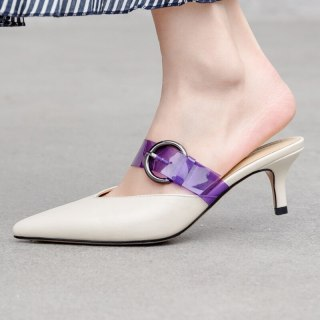 Arden Furtado Summer Fashion Trend Women's Shoes Pointed Toe Stilettos Heels Leather Concise Slippers Sexy Elegant Pure Color