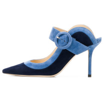 Arden Furtado Summer Fashion Trend Women's Shoes Pointed Toe Stilettos Heels Pure Color Sexy Elegant Slippers Mature Office Lady