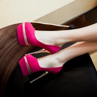 Arden Furtado Summer Fashion Trend Women's Shoes Pointed Toe Stilettos Heels Platform Slip-on Pumps Concise Office Lady Shallow