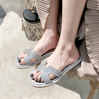 Arden Furtado Summer Fashion Trend Women's Shoes  Sexy Elegant Pure Color Classics Classics Slippers Concise Crystal Rhinestone