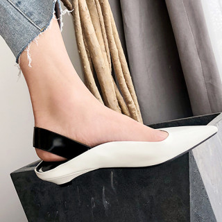 Arden Furtado Summer Fashion Women's Shoes Pointed Toe Leather Special-shaped Heels Elegant Women's Shoes Sexy Elegant
