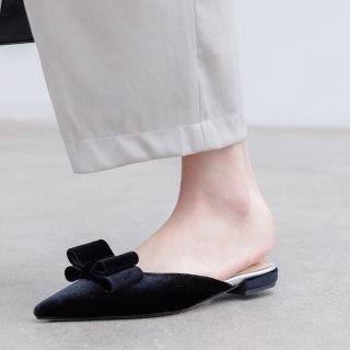 Arden Furtado Summer Fashion Women's Shoes Pointed Toe velvet Classics Sexy Elegant Pure Color Slippers slides