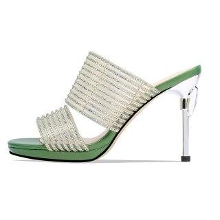 Arden Furtado Summer Fashion  Women's Shoes Stilettos Heels Concise Sexy Elegant Pure Color Gold heels platform Slippers