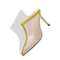 Arden Furtado Summer Fashion Women's Shoes Stilettos Heels Hollow out  Sexy Elegant Classics fretwork  Slippers