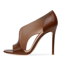 Arden Furtado summer 2019 fashion women's shoes slip-on stilettos heels peep toe shallow sexy Leather Pure Color Sandals Party Shoes various colors can be customized