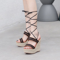 Arden Furtado Summer Fashion Trend Women's Shoes  Sexy Elegant Pure Color Sandals Office lady Ankle Strap Classics Gladiator Waterproof