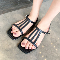 Arden Furtado Summer Fashion Trend Women's Shoes  Sexy Elegant Pure Color Sandals Leather Concise Narrow Band Big size 40