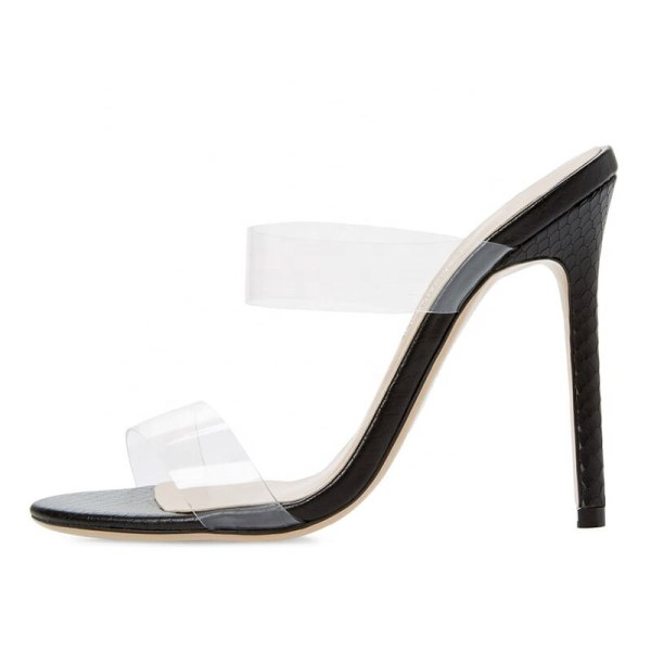 Arden Furtado Summer Fashion Trend Women's Shoes Stilettos Heels Concise Mature Narrow Band Sexy Elegant Pure Color Slippers